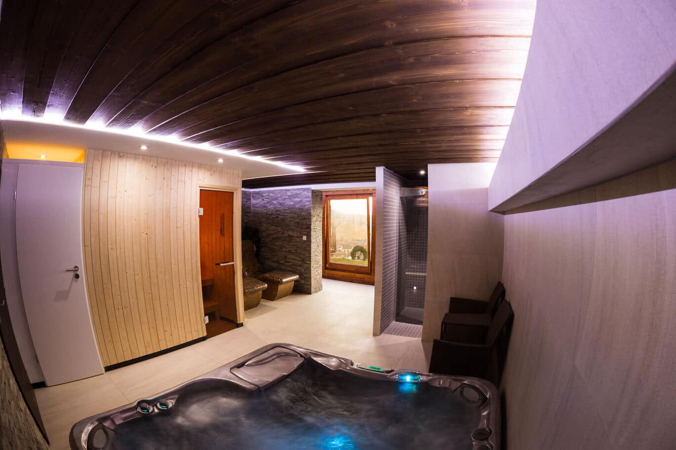 Wellness a sauna
